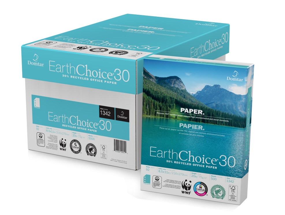 earthchoice paper 30% recycled