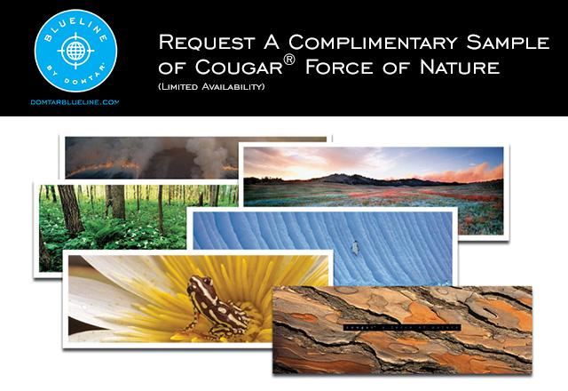 Cougar Premium Paper Brand Sample - Force of Nature
